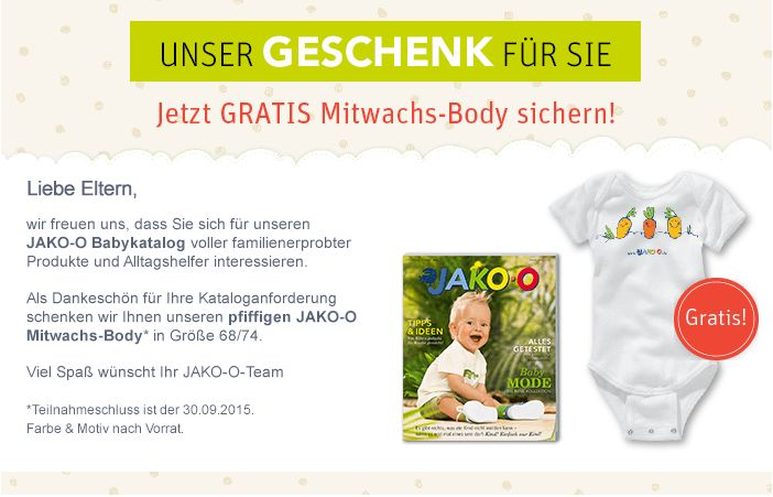 Gratis Baby Body Bei Jako O Rabatt Couponcom Gutscheincodes
