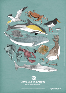 Gratis A1 Poster der Nordseebewohner von Greenpeace
