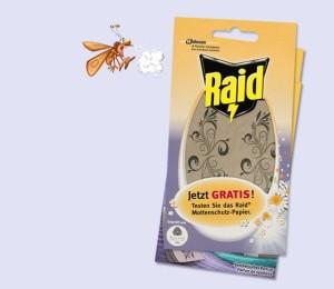 Mach dich frei von Motten mit dem gratis Mottenschutz von Raid.