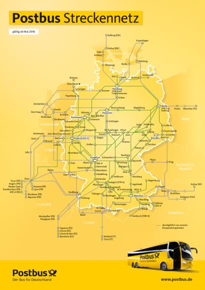 Postbus Streckennetz