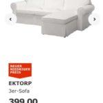 IKEA Coupon zum Ausdrucken – 50€ Rabatt auf 3er-Sofa Ektorp