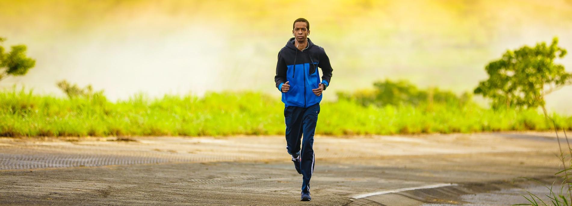 Läufer auf Straße