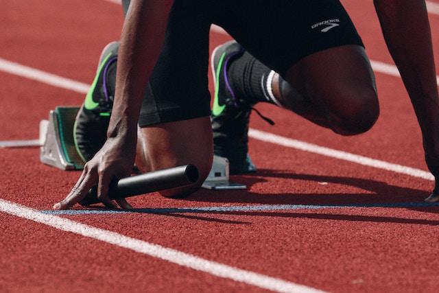 Ein startender Sprinter |Rabatt Coupon