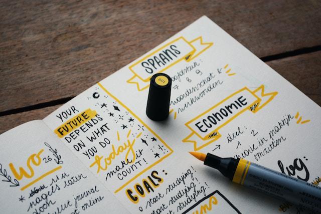 Ein Notizbuch mit Zielen |Rabatt Coupon