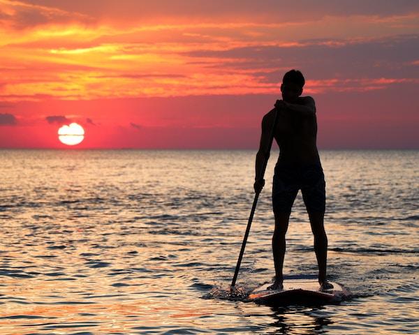 Ein Paddler auf dem Eriesee   Rabatte Coupons