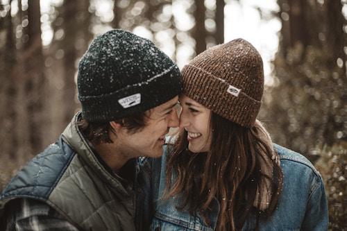 Ein Paar im Herbst   Lands' End Gutschein