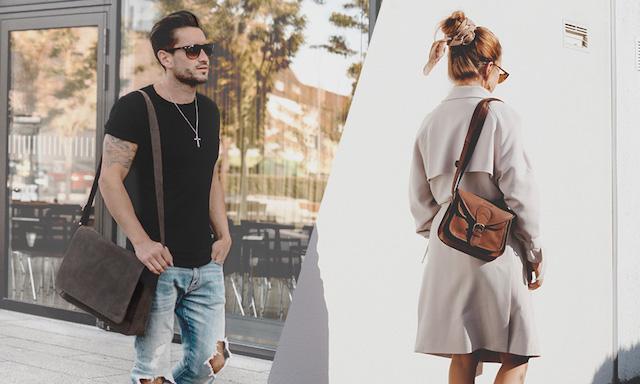 Mann und Frau mit Leabags