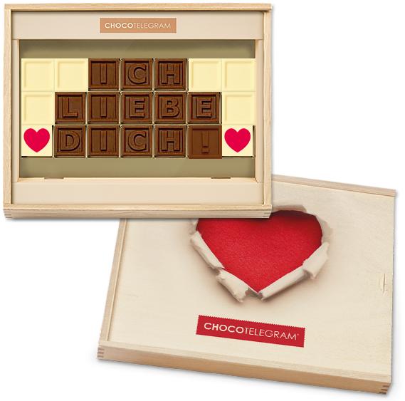 Mit dem Chocotelegram verschenkt ihr Liebe die durch den Magen geht