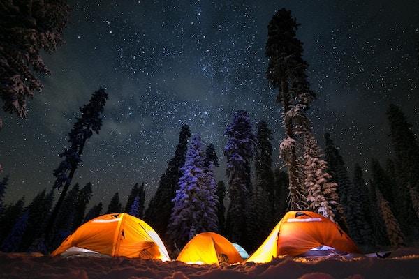 Im Zelt ist man der Natur besonders nah.