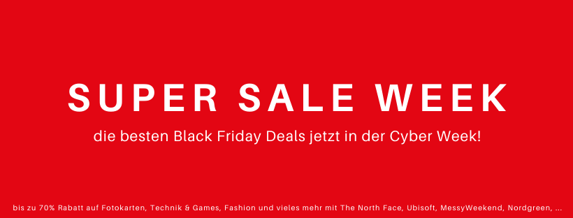 Black Friday Deals 2020 | Super Sale Week auf Rabatt-Coupon